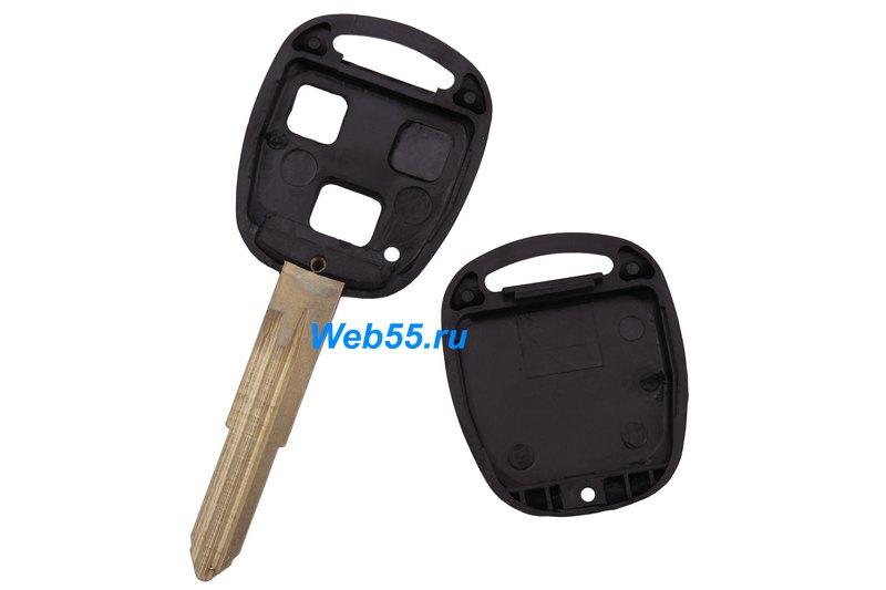 Корпус Ключа Toyota 2 Боковые Кнопки